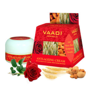 Anti Ageing Cream Almond, Wheatgerm Oil & Rose (30 Gms)