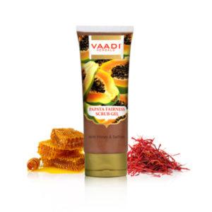 Papaya Fairness Scrub Gel With Honey & Saffron (110 Gms)