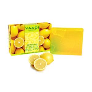 Refreshing Lemon And Basil Soap