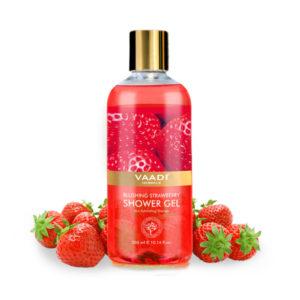 blushing strawberry shower gel
