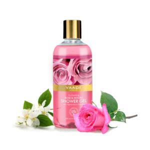 enchanting rose & mogra shower gel