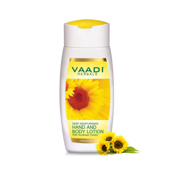 hand & body lotion with sunflower extract (110 ml)